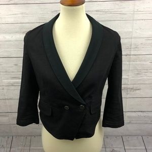 Juicy Couture Black Cropped Blazer Size S